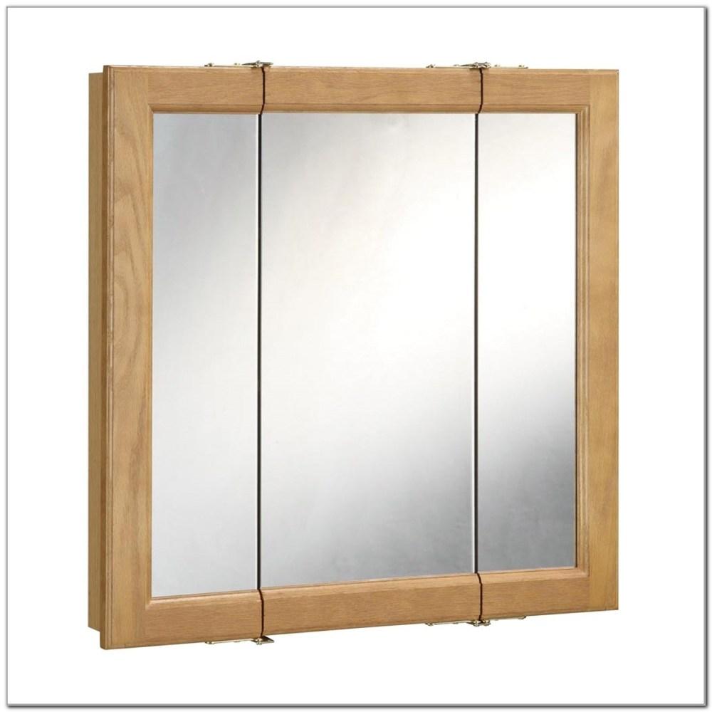 3 Door Oak Medicine Cabinet