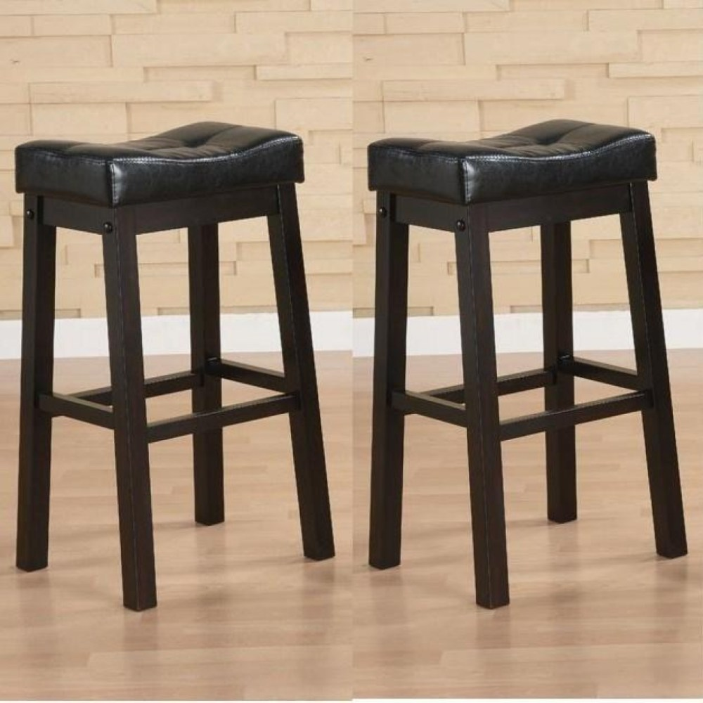 30 In Leather Bar Stools