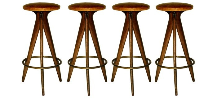 30 In Wood Bar Stools
