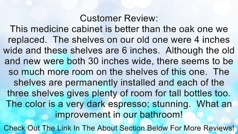 48 Inch Medicine Cabinet Espresso