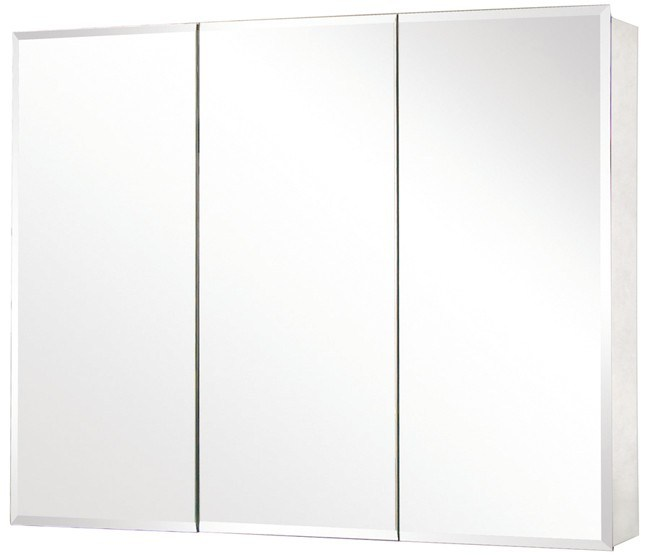 48 Tri View Beveled Mirror Medicine Cabinet