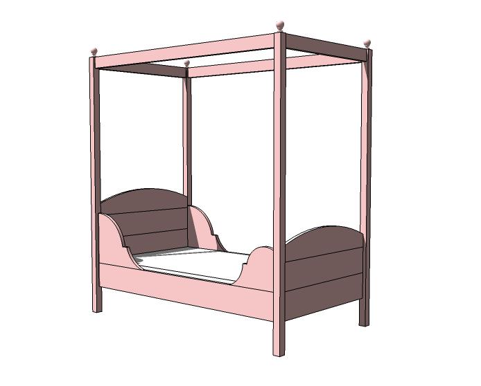 Ana White Lydia Toddler Bed