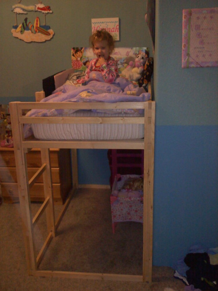 Ana White Toddler Loft Bed