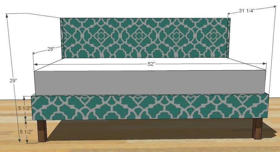 Ana White Upholstered Toddler Bed
