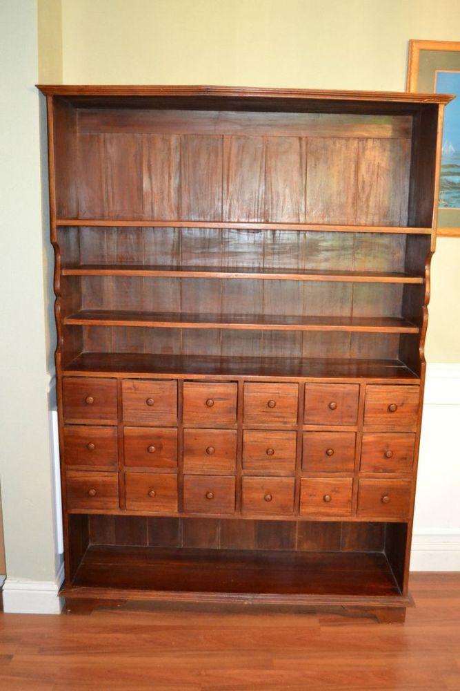 Antique Mahogany Medicine Cabinet