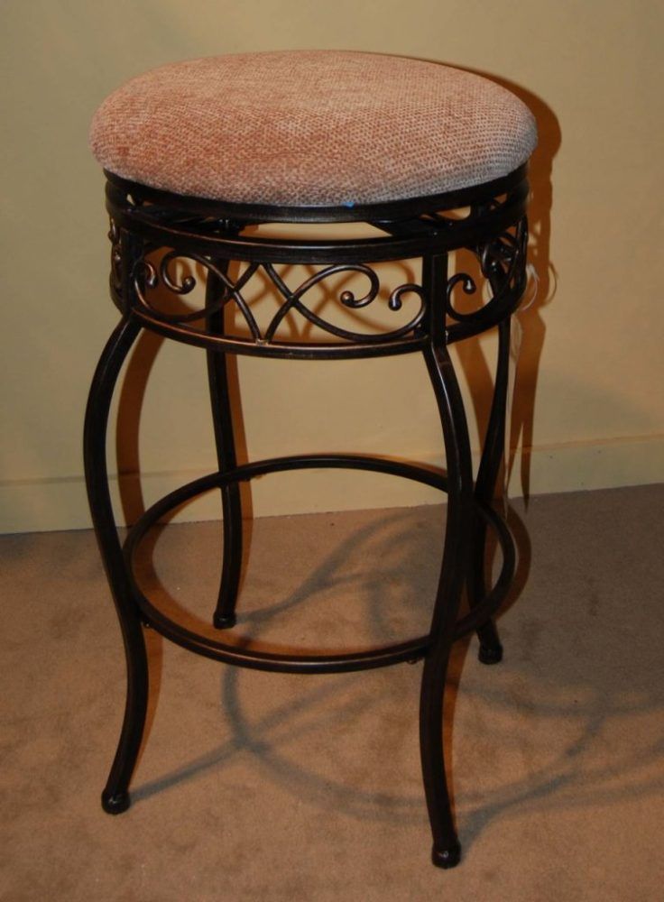 Antique White Bar Stools Leather