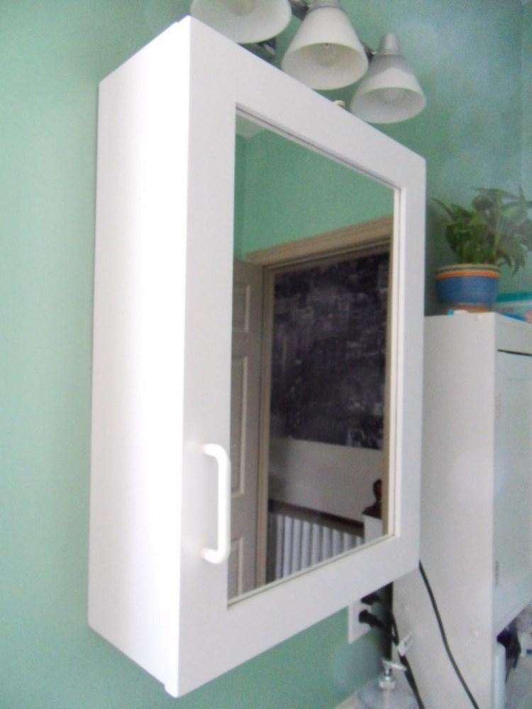 Antique White Mirror Medicine Cabinet