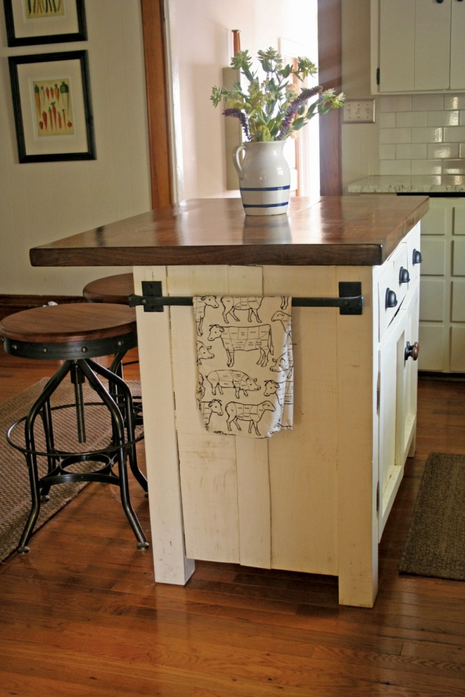 """Antique White Wooden Bar Stools"""""""