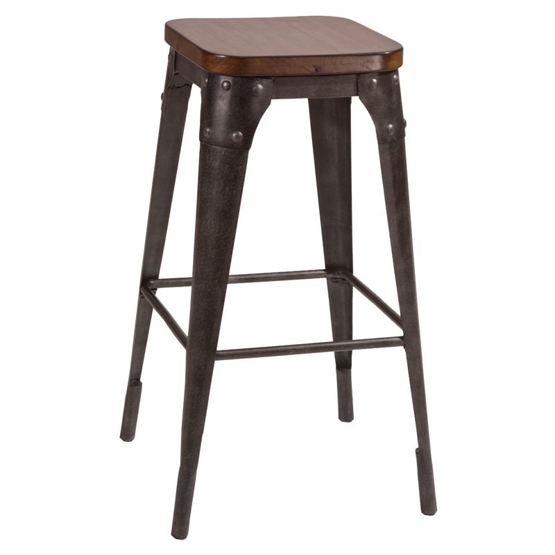 Armen Living Backless 26 Swivel Bar Stool