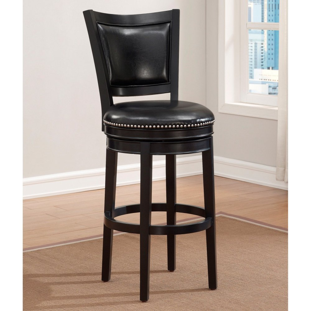 Armen Living Boston Swivel Bar Stool
