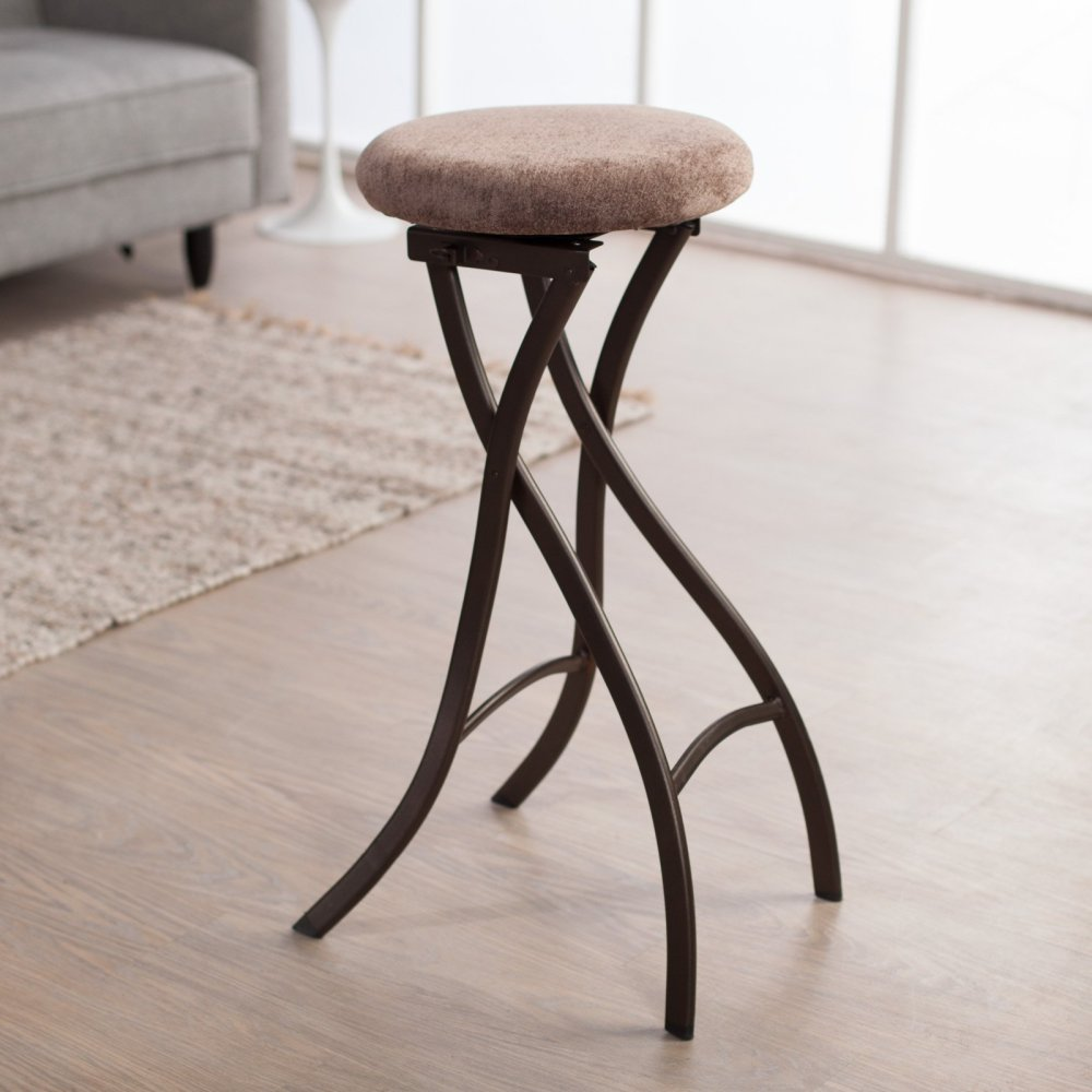 Backless Bar Stools With Fabric Seat