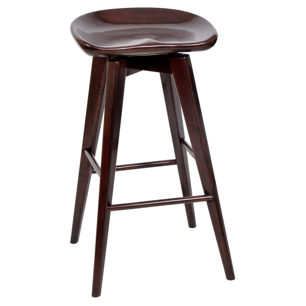 Backless Swivel Bar Stools Leather