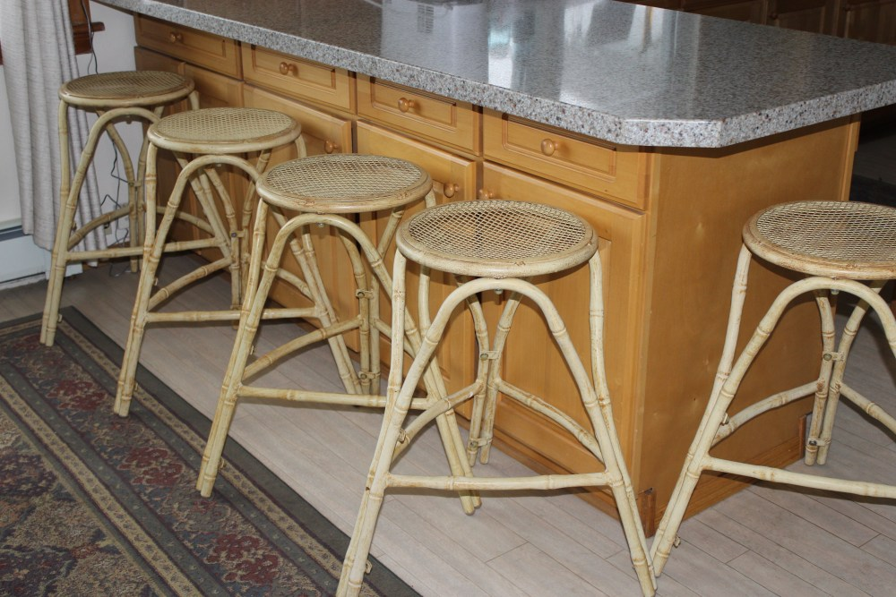 Bamboo Bar Stool Cream
