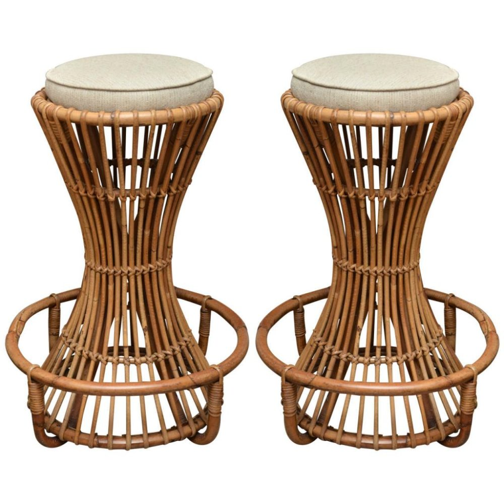 Bamboo Bar Stools Swivel