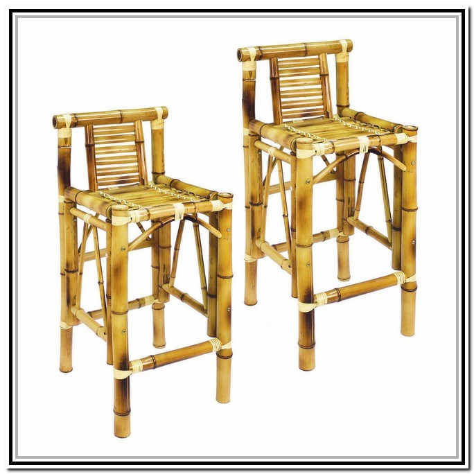 Bamboo Bar Stools With Backs