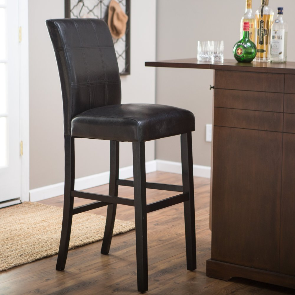 Bar Stool Covers Black