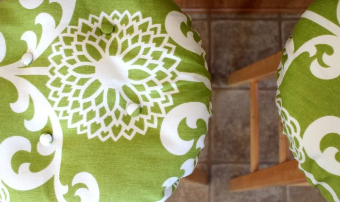 Bar Stool Cushions Round Pattern