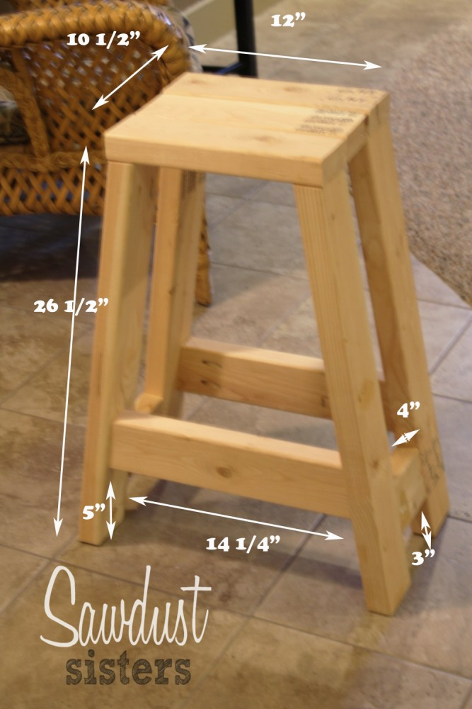 Bar Stool With Arms Plans