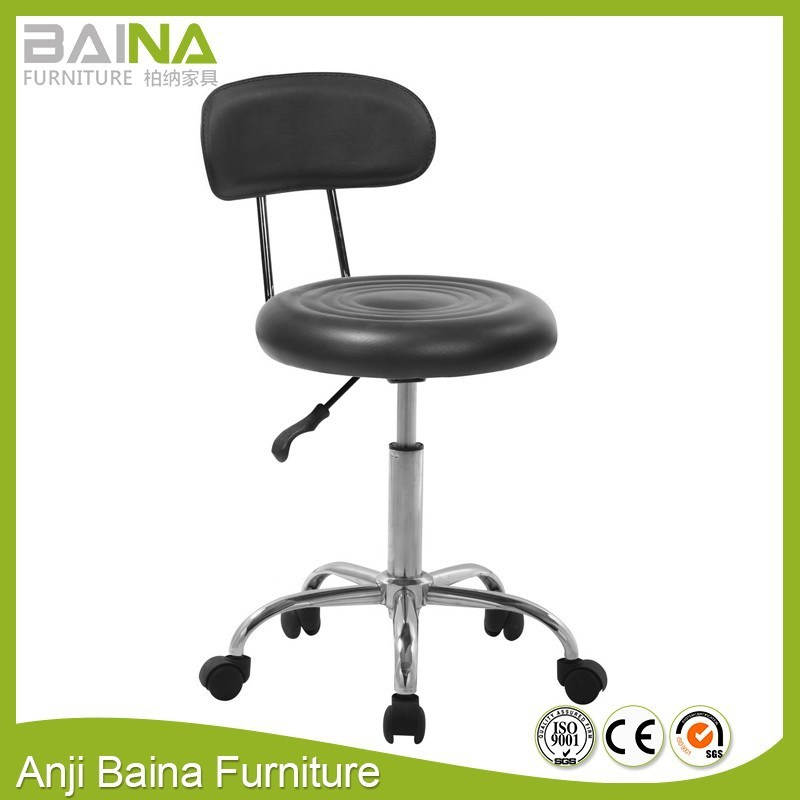 Bar Stool With Backrest And Wheels