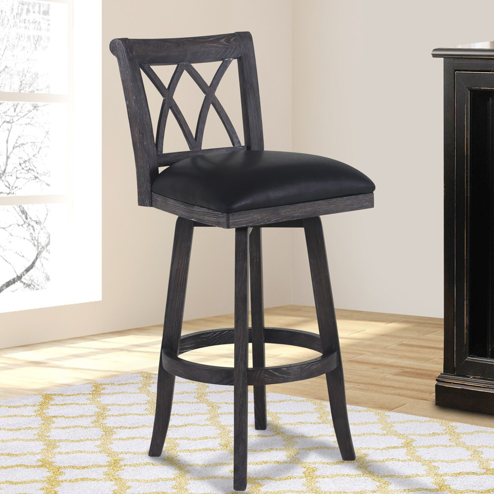 Bar Stool With Red Cushion
