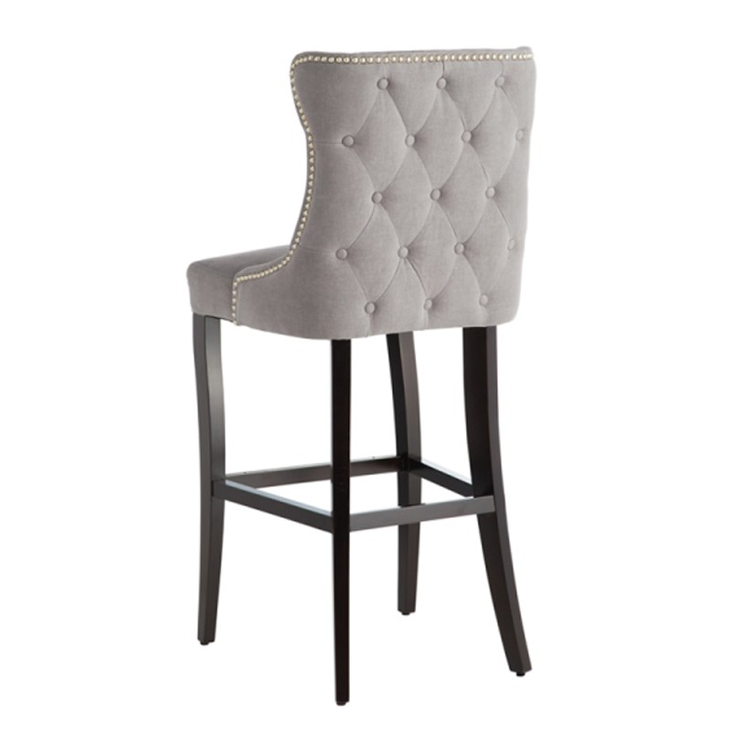 Bar Stools Grey Fabric