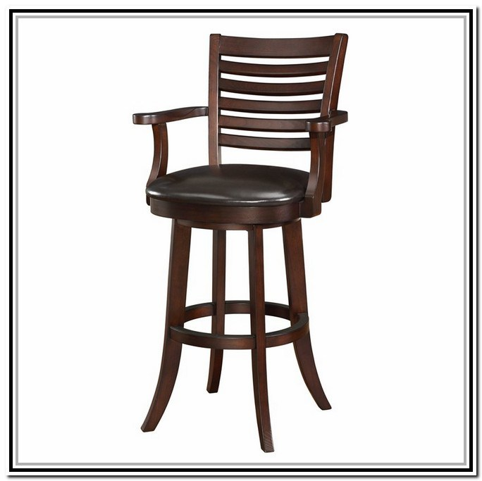 Bar Stools Swivel With Back And Arms