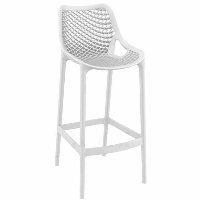 Bar Stools White Plastic