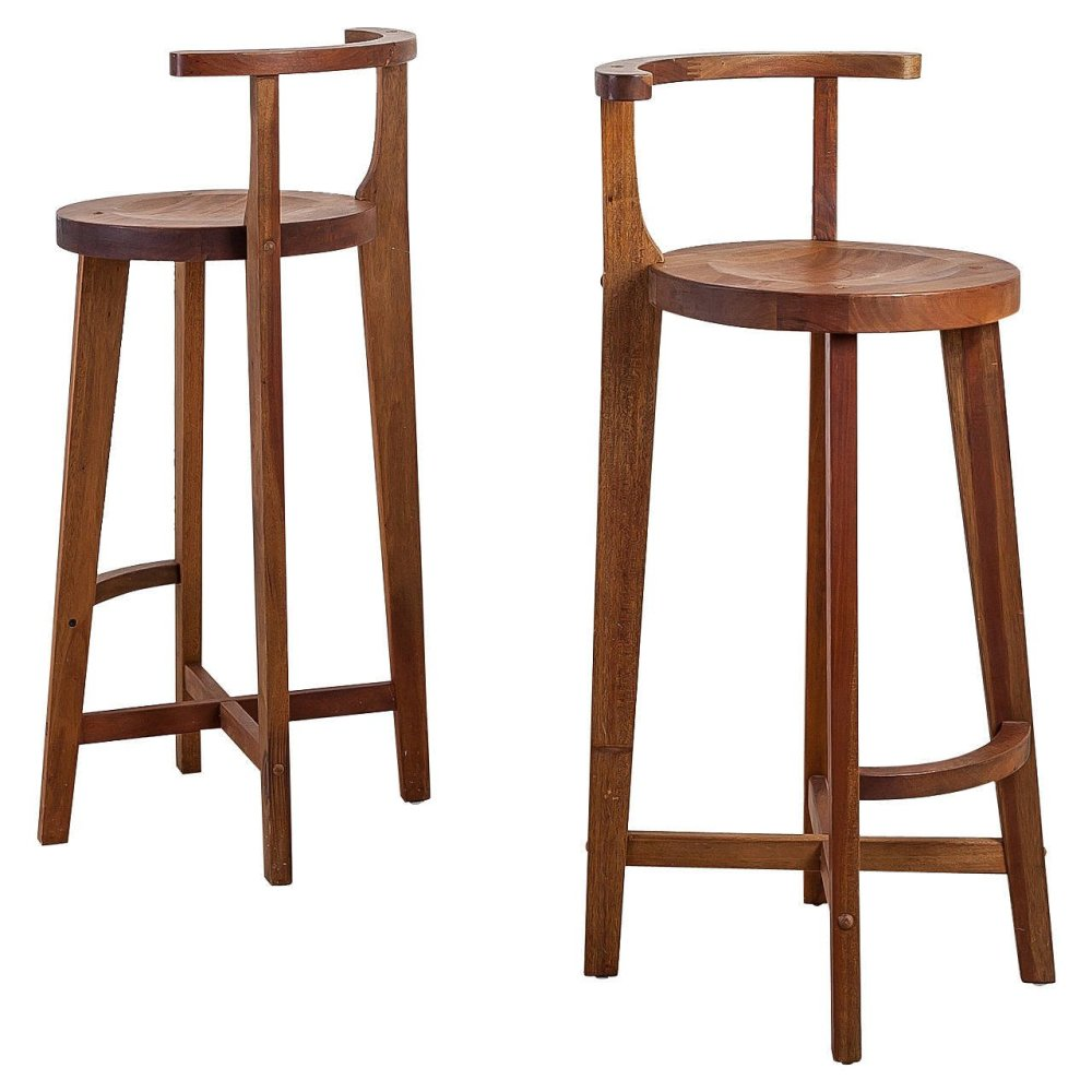 Bar Stools Wooden With Back