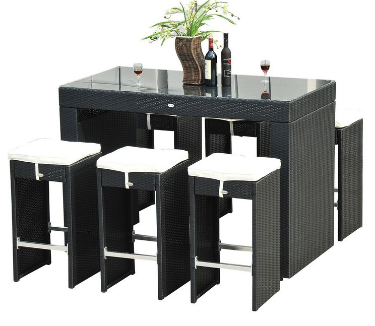 Bar With Stools Set