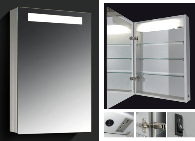 Bathroom Mirror Lighted Medicine Cabinet