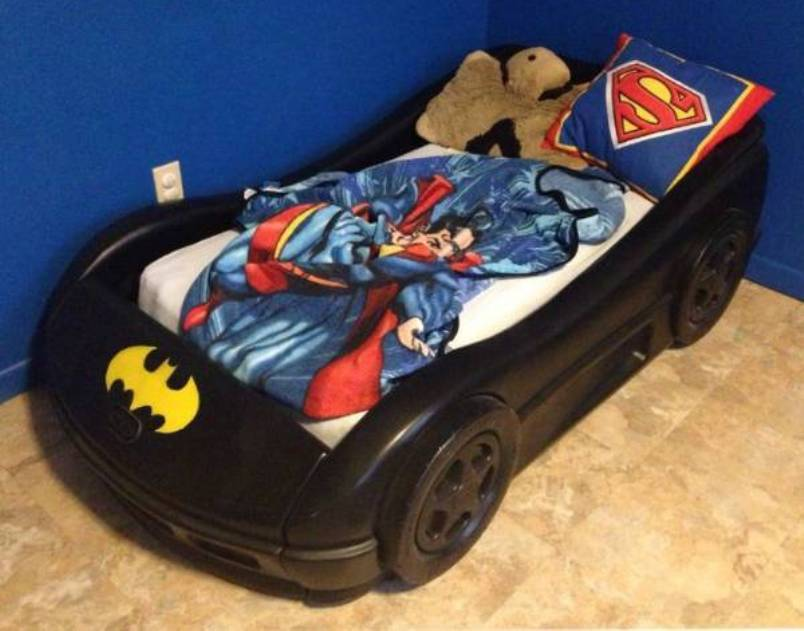 Batman Superman Toddler Bedding