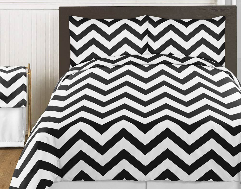 Black And White Chevron Toddler Bedding
