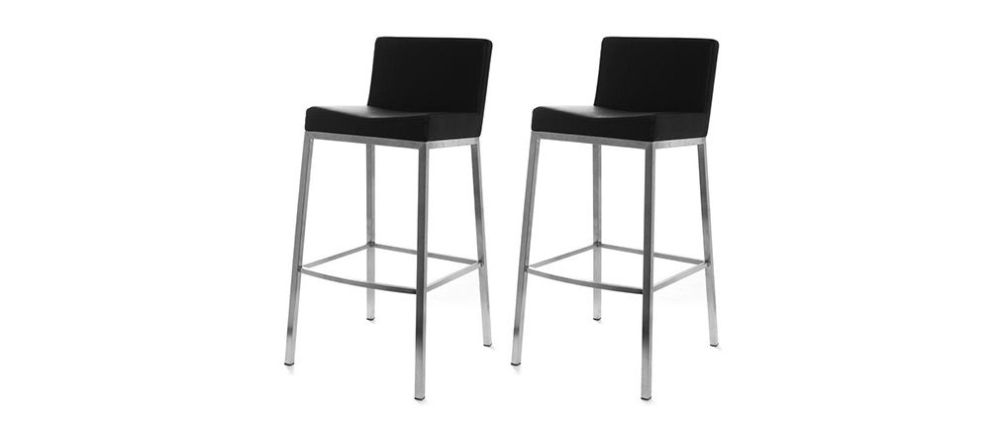 Black Bar Stools Set Of 2