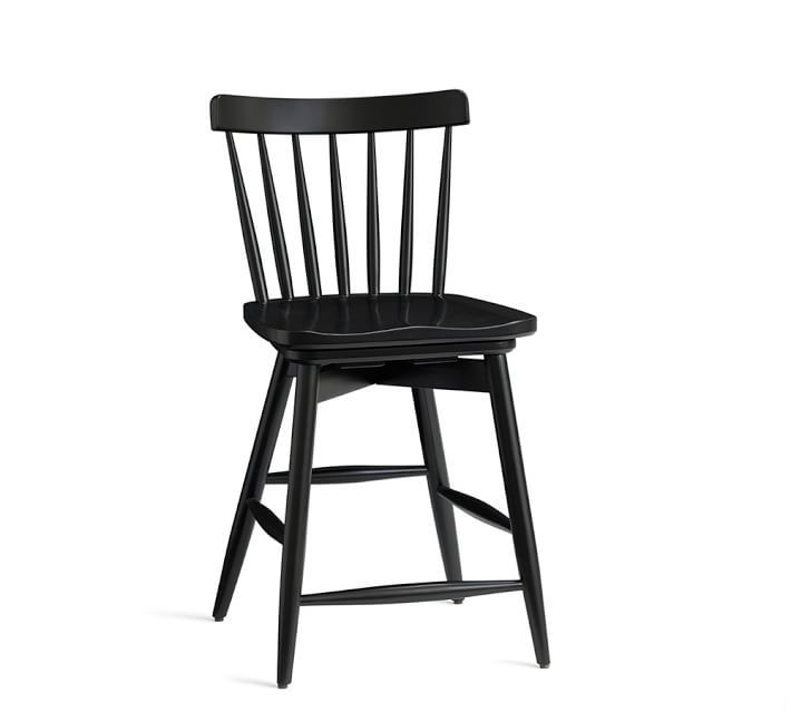 Black Bar Stools With Back