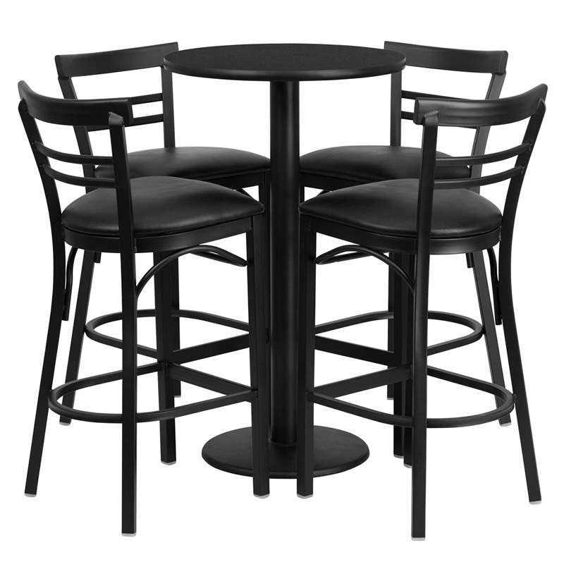 Black Ladder Back Bar Stools