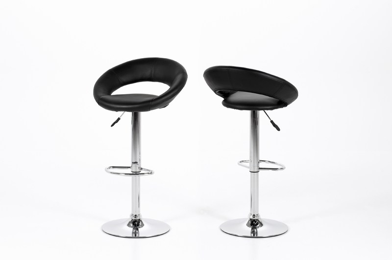 Black Leather Bar Stool