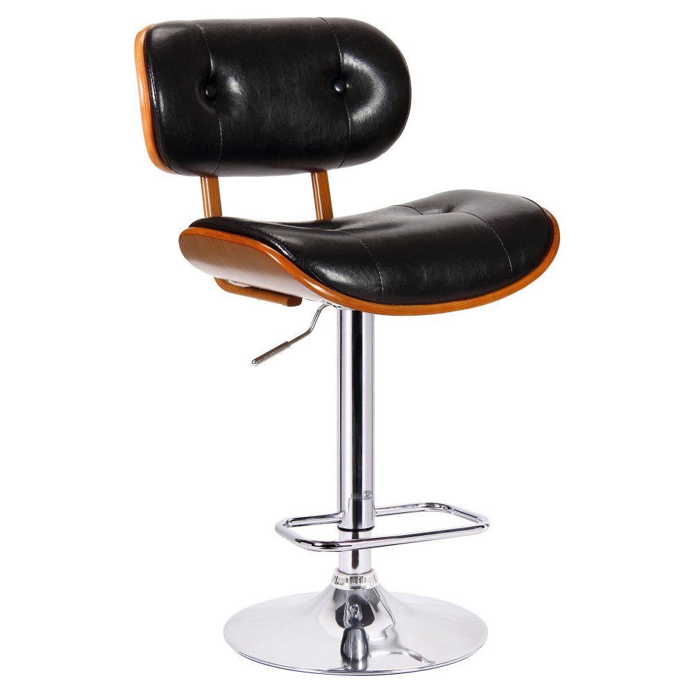 Black Leather Bar Stools Swivel