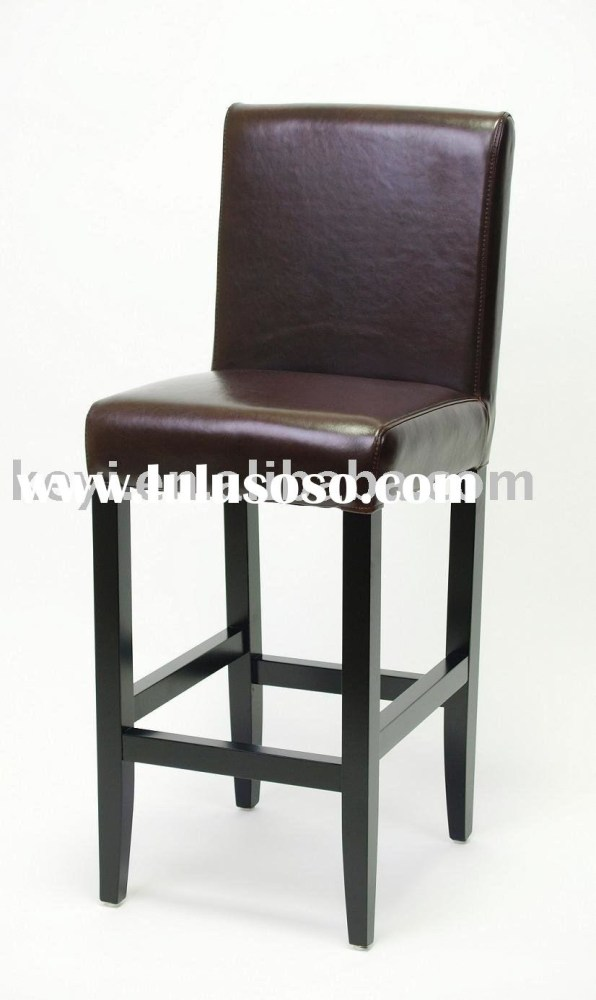 Black Leather Bar Stools With Backs