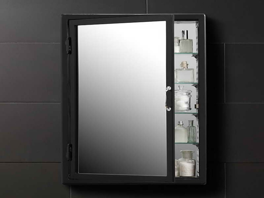 Black Medicine Cabinets With Mirrors