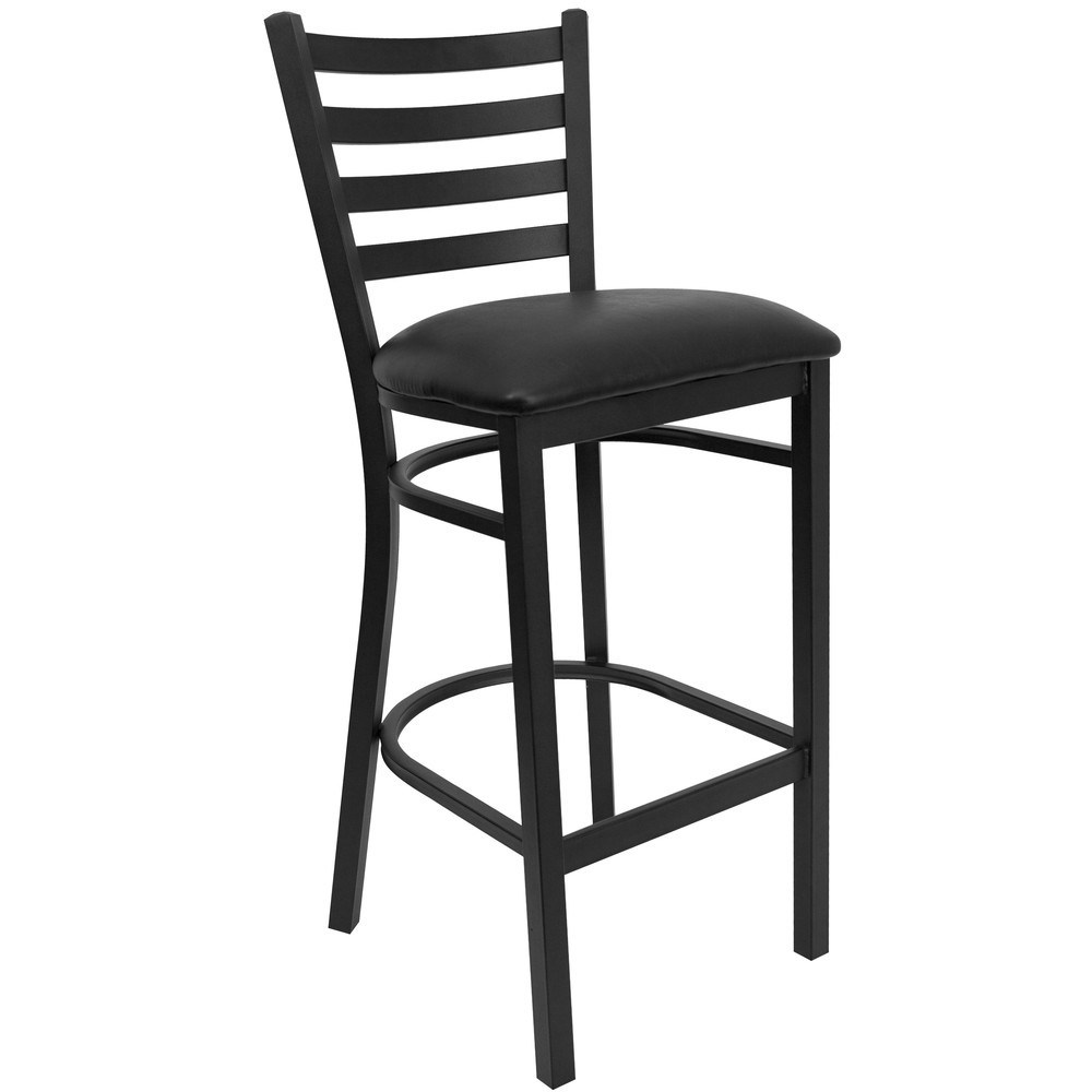 Black Metal Bar Stools With Back
