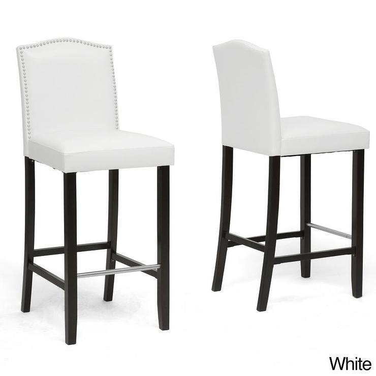 Black Nailhead Bar Stools