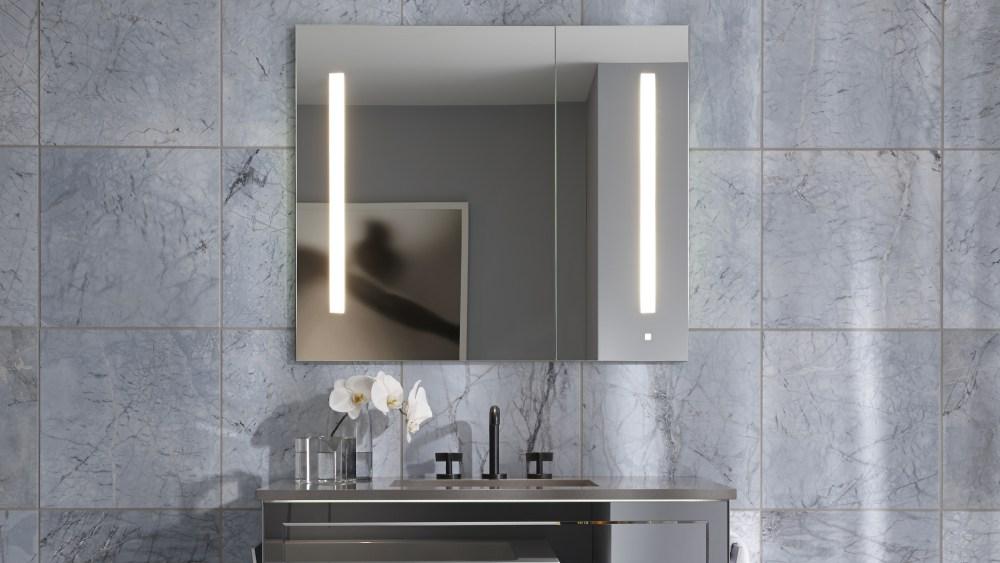 Black Recessed Medicine Cabinet Mirror