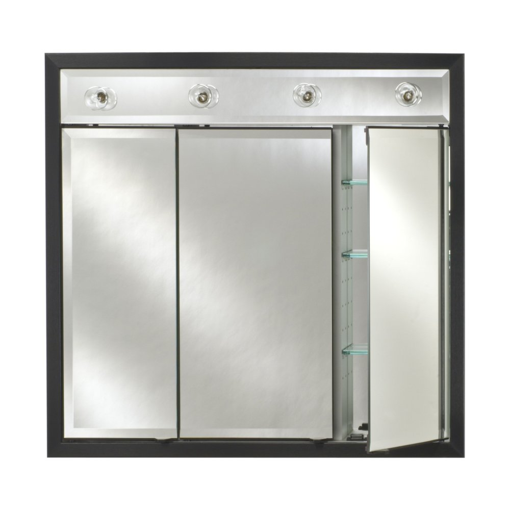 Black Recessed Medicine Cabinet With Mirror