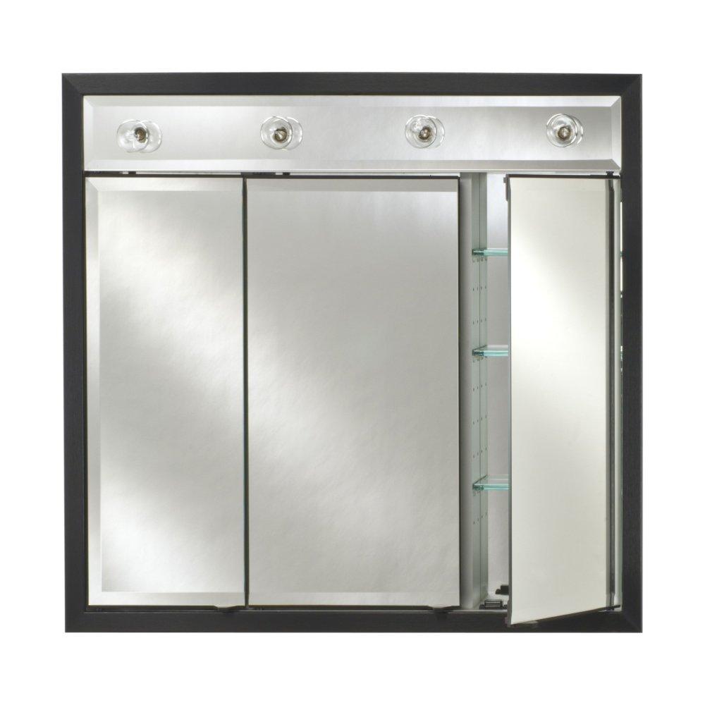 Black Recessed Medicine Cabinet With Mirror