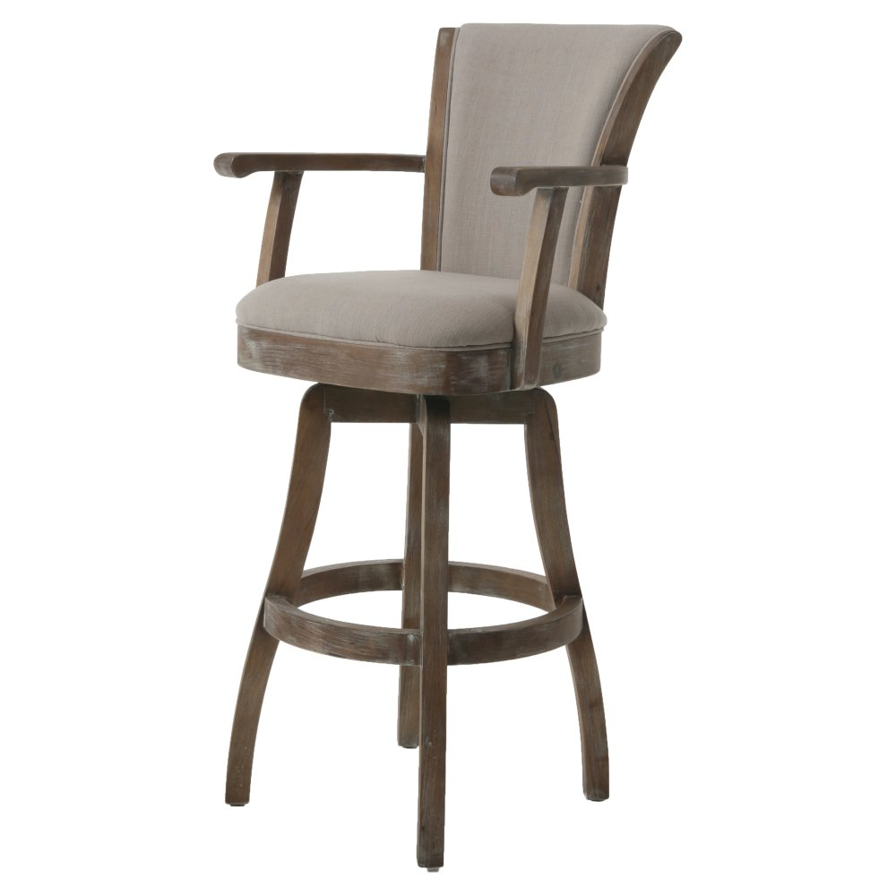 Black Swivel Bar Stools With Arms