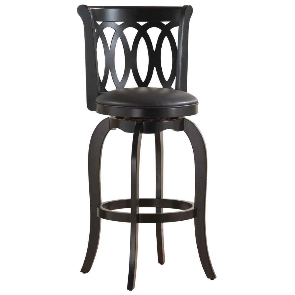 Black Swivel Bar Stools With Back