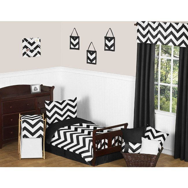 Black Toddler Bedding Set