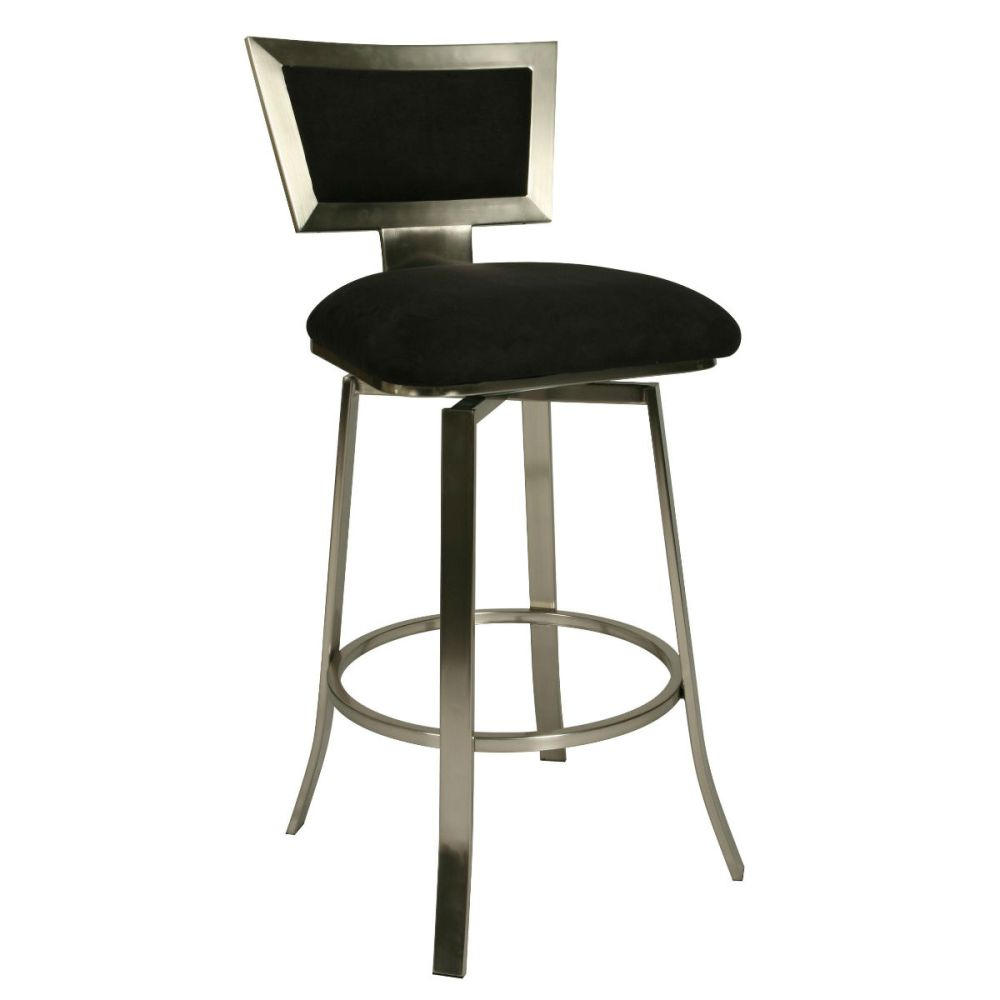 Black Velvet Bar Stools