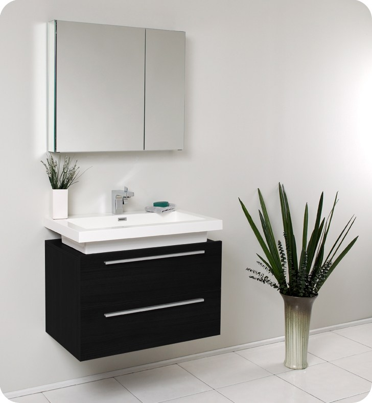 Black Wall Mount Medicine Cabinet