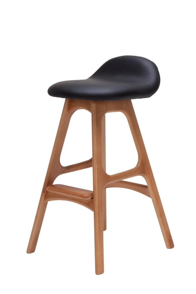Black Wooden Breakfast Bar Stools
